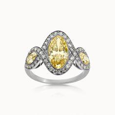 BELLE EPOQUE YELLOW DIAMOND AND DIAMOND RING
