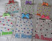 Quantity 6 for the price of 5 Personalized with name clear acrylic clipboard, flowers, polka dots or other design, back to school