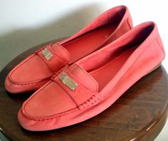 """COACH Shoes ~ Women's Pink / Salmon Suede """"Fredrica"""" Loafers ~ Size 11 M #Coach #LoafersMoccasins"""