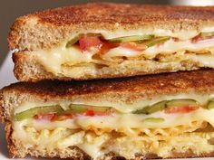 Grilled cheese with pickles and potato chips — wow!  http://greatideas.people.com/2014/03/13/10-sandwiches-that-are-better-with-potato-chips-stuffed-inside/