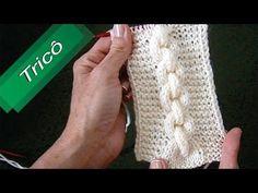 DIY - Tricô - Corrente com Ponto Realçado (Passo a Passo) Mari Trentini - YouTube
