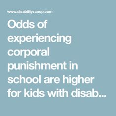 Odds of experiencing