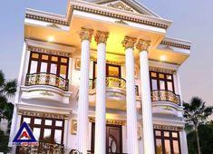 Village House Design, Kerala House Design, House Front Design, Cool House Designs, Classic House Exterior, Classic House Design, Dream Home Design, Modern House Design, Luxury House Plans