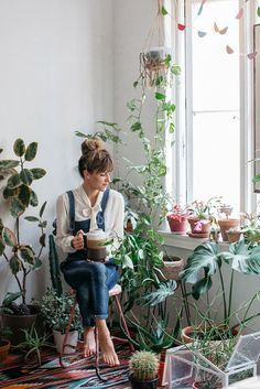 a gal and her plants.