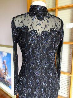 Black beaded flapper inspired vintage by RetroVintageWeddings