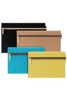 Victoria Beckham Zip Pouch  So cool, so chic - perfect everything everywhere bag.