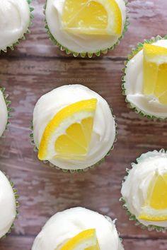 Lemon Burst Cupcakes by itbakesmehappy #Cupcakes #Lemon