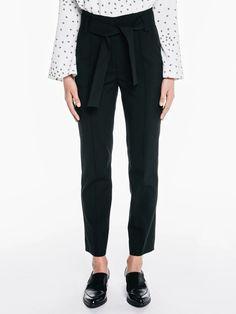 Dry Twill Tie Belt Slim Pant
