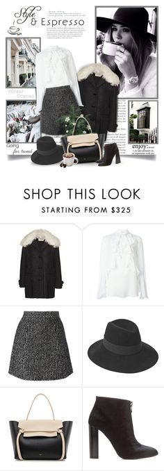 """""""Style & Espresso"""" by thewondersoffashion ❤ liked on Polyvore featuring Andrea, Tod's, Givenchy, CoffeeShop, Ermanno Scervino, Maison Michel, CÉLINE, Tom Ford, Tassimo and women's clothing"""
