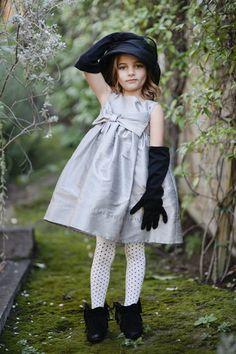 Big Bow Silver luxury baby dress