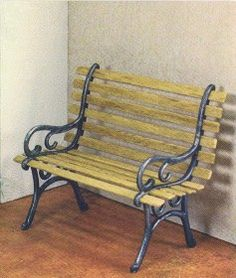 how to: miniature bench