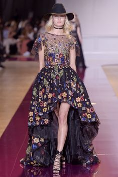 Couture Fall 2016 Trend: Florals | Zuhair Murad Couture Fall 2016 [Photo: Giovanni Giannoni]
