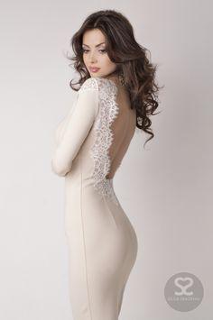 Элегантное платье с открытой спиной от дизанера в интернет магазине. | Skazkina