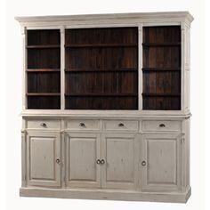 Distressed Mahogany Bookcase Entertainment Display Cabinet | eBay