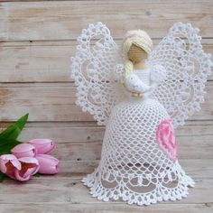 Najpiękniejsze anioły ażurowe szydełka
