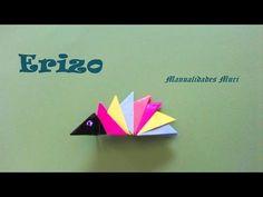 Origami - Papiroflexia. Erizo por piezas, muy fácil - YouTube