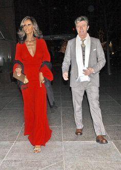 David Bowie arrives with his wife Iman at the 60th birthday party for Jann Wenner editor and publisher of Rolling Stone magazine on January 7 2006 at...