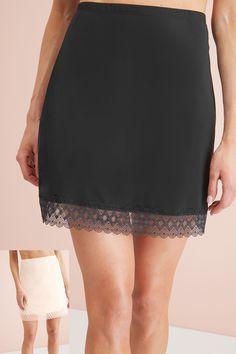 Womens Next Black/Nude Microfibre Short Half Slips Two Pack - Black