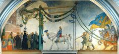 The Entry of King Gustav Vasa of Sweden into Stockholm, 1523 - Carl Larsson. In the most wonderful Swedish National Museum. Carl Larsson, Ruotsi, Harry Potter, Vesiväri