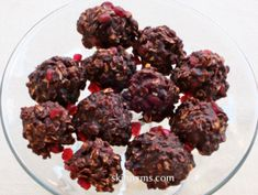 Pomegranate Unbaked Fudge Cookies