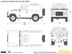 Land Rover Defender 110 Pick Up vector drawing Defender Camper, Land Rover Defender 110, Defender 90, Landrover Defender, Range Rover Jeep, Jeep Wagoneer, Cars Land, Expedition Vehicle, Car Drawings