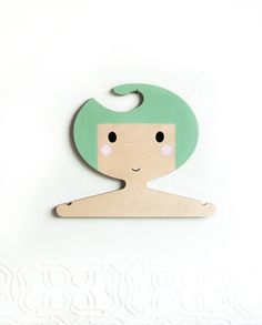 Children's wooden clothes hanger/ room decor  Soft by RedHandGang, £12.50