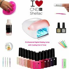 CND Shellac Gel Polish New 10 Piece Nail Starter Kit White 36W UV Lamp(Choose From 30 Top Cnd Colours Inc The New Open Road Collection 2014 ...