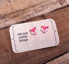 Hey, I found this really awesome Etsy listing at https://www.etsy.com/listing/207598048/autumn-fox-stud-earring-posts