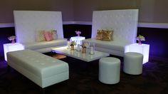 Tall Back Windsor Banquette Setup - Wedding Lounge