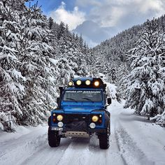 """""""Got any overland trips planned for 2015? Send word, be thrilled to tag along. @defender130 lighting out some place wonderfully cold. #mylandy"""""""