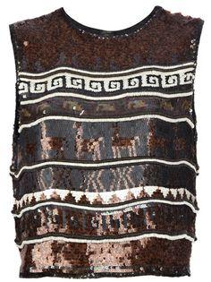 638bfc29587fc Jean Paul Gaultier Vintage Sequined Graphic Vest Top - Farfetch