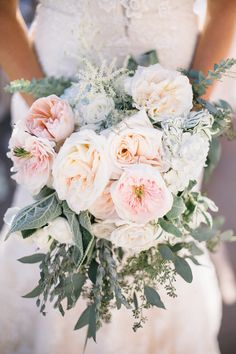 Fluffy Peony Bouquet | wedding planning and event design by http://www.michelleleoevents.com/ | photography by http://www.shannonelizabethphoto.com/