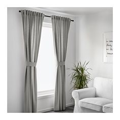 INGERT Curtains with tie-backs, 1 pair  - IKEA