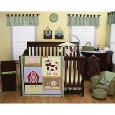 [+] Trend Lab Baby Barnyard 6-Piece Crib Bedding Set - Green by Trend Lab