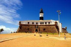 Farol da Barra, Salvador Mansions, Lighthouses, House Styles, Salvador, Mysterious, Beautiful, Home Decor, Colonial Architecture, Brazil
