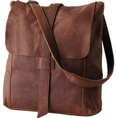 Vintage Fossil Distress Brown Leather Cross Body Messenger Bag ...