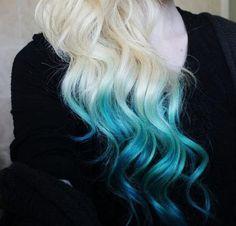 Temporary Hair Color - Dip Dye, PICK A COLOR - Hippie Hair. $3.00, via Etsy.