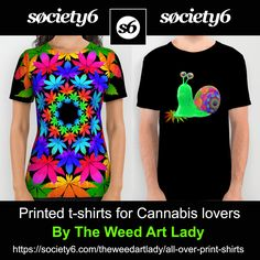 My art is available on Society6 in the form of printed t-shirts! $34 with free shipping today!