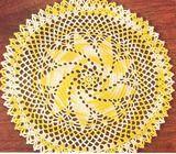 Vintage Crochet Pinwheel Star Doily Motif Pattern Pinwheel