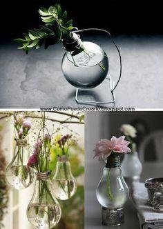 Una bonita manera de reciclar  A lovely way to recycle