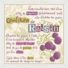 La Confiture de raisin - Lilipoints