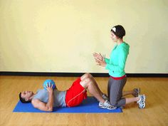 Today's Exercise: Partner Sit-Ups with Medicine Ball Toss