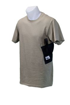 In addition to being designed for comfort and inconspicuous style, these gun shirts are crafted for strength. The holster can endure up to 10 pounds of weight!  http://www.wearccw.com/collections/gun_holsters/products/holster-shirt