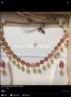 Gold Jewelry For Wedding Light Weight Gold Jewellery, Gold Jewelry Simple, Ruby Necklace Designs, Collier Simple, Ruby Jewelry, India Jewelry, Beaded Jewelry, Jewelry Bracelets, Quartz Jewelry