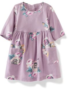 Double-Pocket Twill Dress for Baby | Old Navy