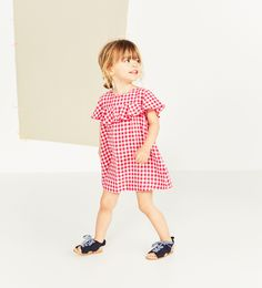 ZARA - KIDS - GINGHAM DRESS WITH FRILL