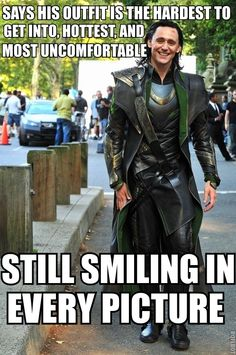Hiddles as Loki.