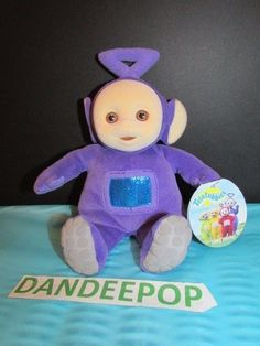 Teletubbies Tinky Winky 1998 Itsy Bitsy Ent 42008 Stuffed Toy With Tags  Eden  Eden   fc40e2540