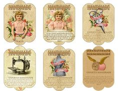 Tags for Handmade Items sewing by FrogsAttic on Etsy, $4.50