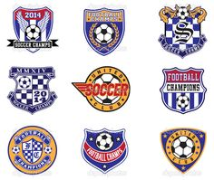 Football Soccer Badges, Patches and Emblem Vector Set - Stock Illustration: 44572649